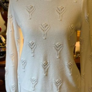 Loft white sweater new w/out tags, small